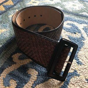 Banana Republic woven leather belt